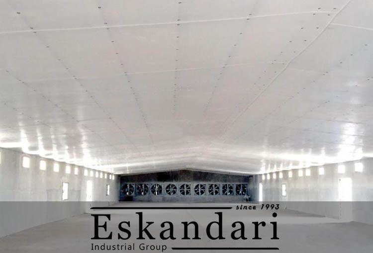 سقف در سالن پرورش بلدرچین