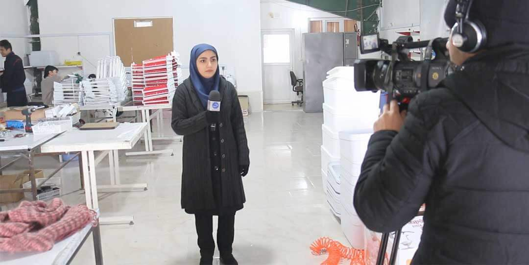 حضور صدا و سیمای جمهوری اسلامی ایران در محل کارخانه گروه صنعتی اسکندری